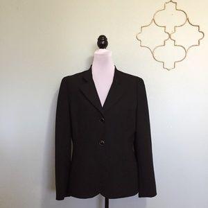 Antonio Melani black two button blazer